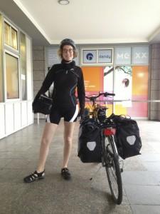 Giulia pronta alla partenza