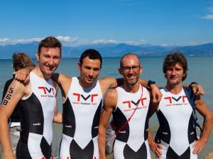 La squadra VTT al triathlon olimpico di Peschiera